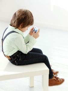 Bad posture in child